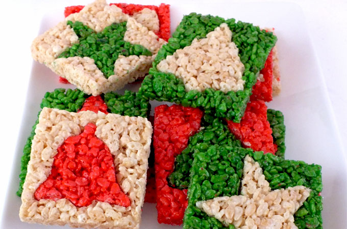 merry christmas rice krispie treats we used christmas cookie cutters to make these adorable and - Rice Crispy Treats For Christmas
