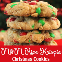 M&M Rice Krispie Christmas Cookies