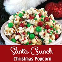 Santa Crunch Christmas Popcorn