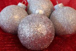 Silver Glitter Ornament