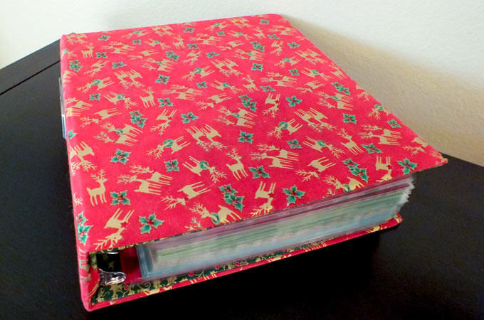 fabric covered christmas decoration binder