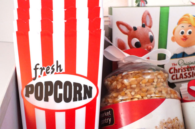 Freshly popped Popcorn on Christmas Eve-Eve Family Night
