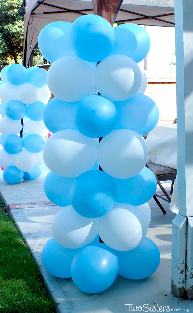 frozen balloon centerpieces the image