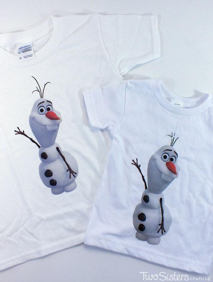 Disney Frozen DIY Olaf Shirt