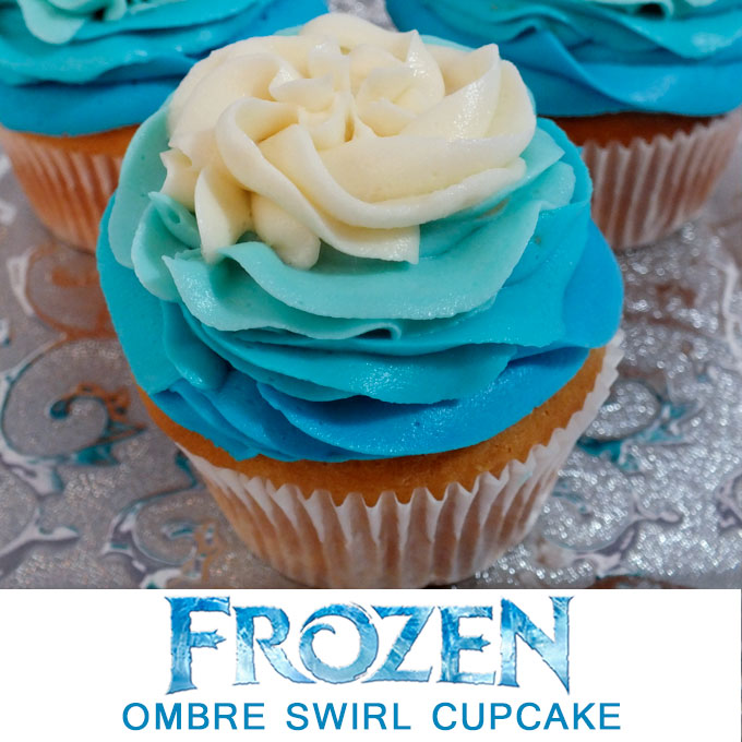 Frozen Ombre Swirl Cupcakes - Two Sisters Crafting