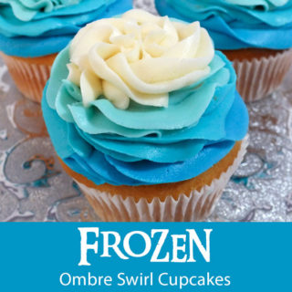 Frozen Ombre Swirl Cupcakes