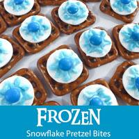 Frozen Snowflake Pretzel Bites