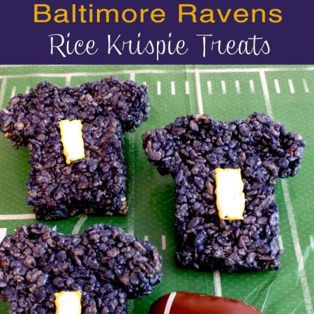 Baltimore Ravens Rice Krispie Treats