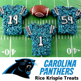 Carolina Panthers Rice Krispie Treats