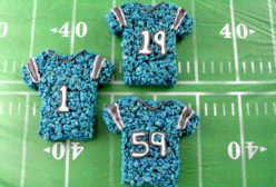 Carolina Panthers Rice Krispie Treats