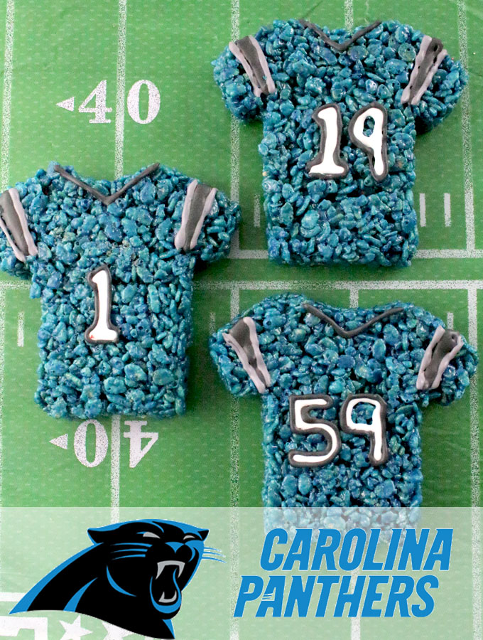 new style 6fd36 bd49d Carolina Panthers Rice Krispie Treats - Two Sisters