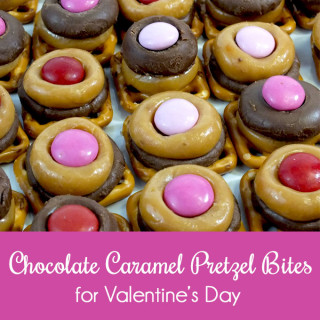 Chocolate Caramel Pretzel Bites for Valentine's Day