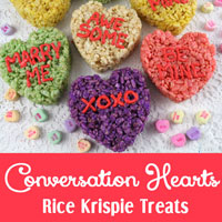 Conversation Hearts Rice Krispie Treats