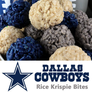 Dallas Cowboys Rice Krispie Bites