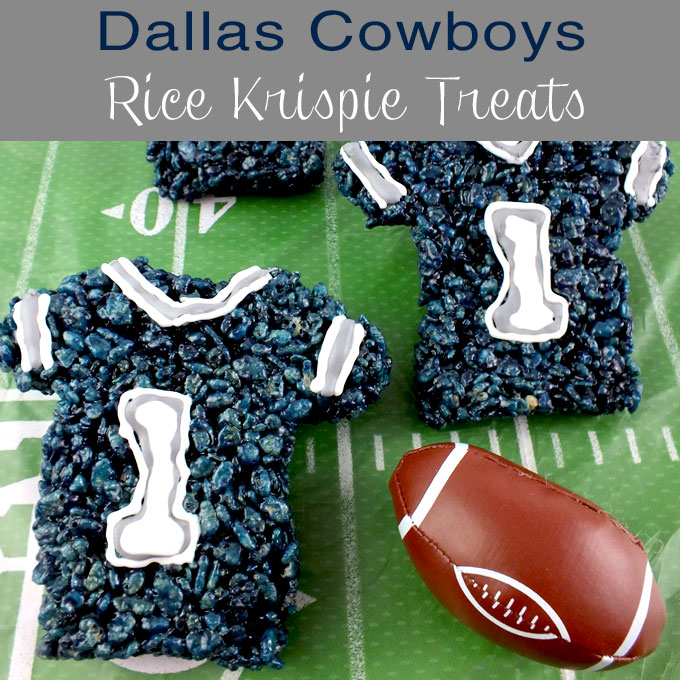 May The Fourth Be With You Treats: Dallas Cowboys Rice Krispie Treats
