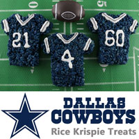 Dallas Cowboys Rice Krispie Treats