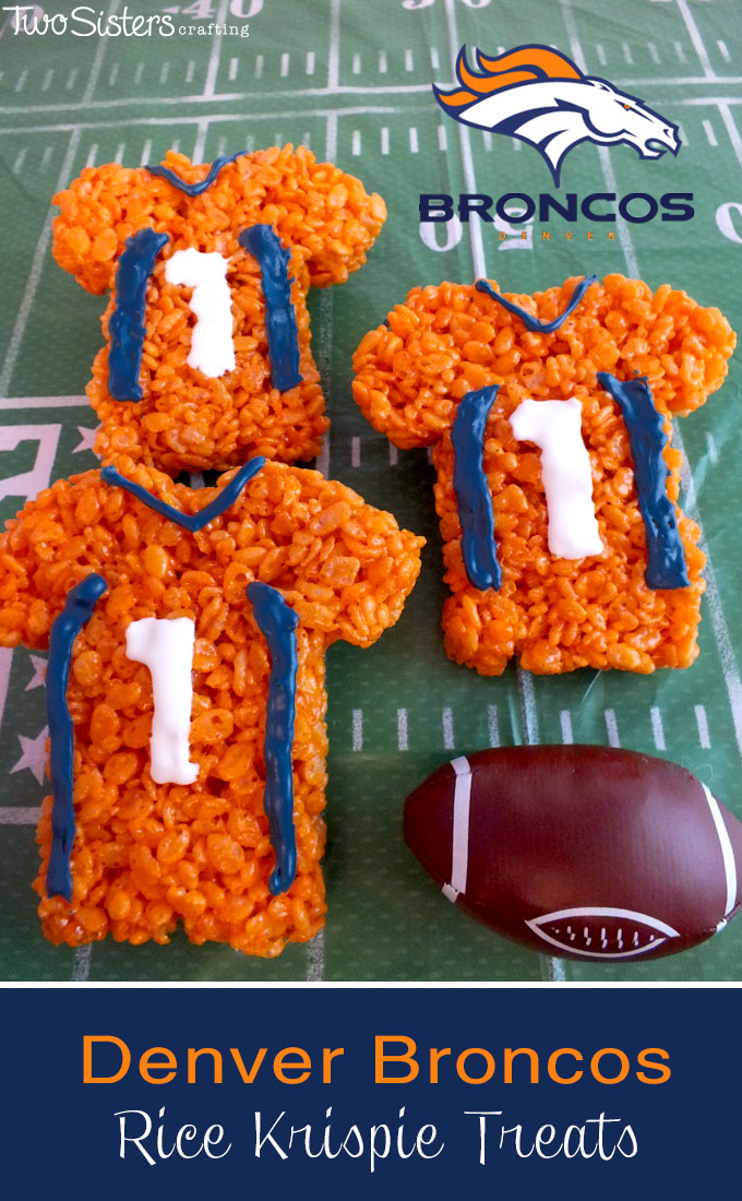 Denver Broncos Rice Krispie Treats Two Sisters Crafting
