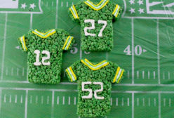 Green Bay Packers Rice Krispie Treats