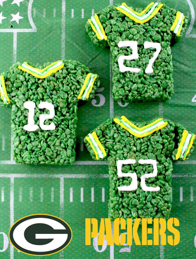 Green Bay Packers Rice Krispie Treats | Fun And Yummy Rice Krispie Treats