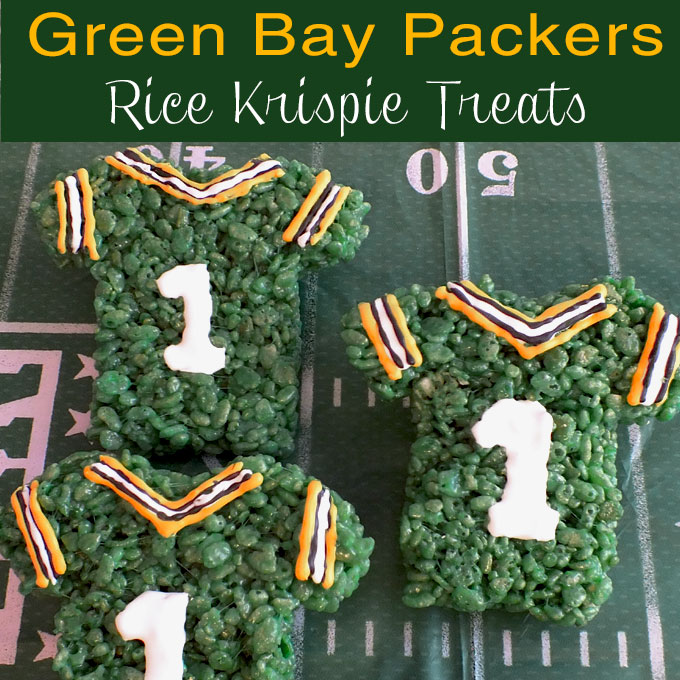 Green Bay Packers Rice Krispie Treats Two Sisters Crafting