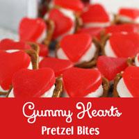 Gummy Hearts Pretzel Bites