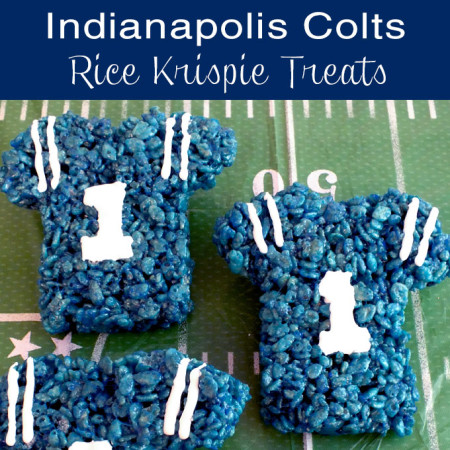 Indianapolis Colts Rice Krispie Treats