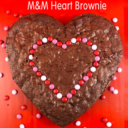 M&M Heart Brownie