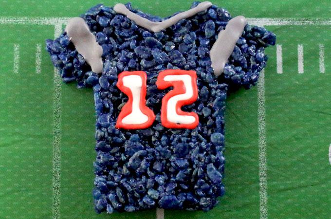 New England Patriots Rice Krispie Treats - Two Sisters