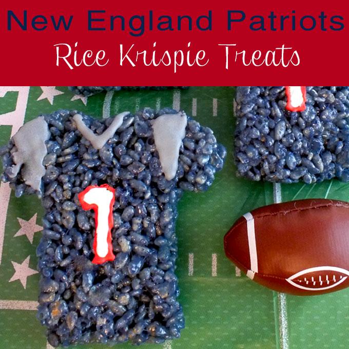 New England Patriots Rice Krispie Treats Two Sisters