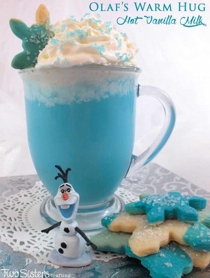 Our Olaf's Warm Hug Hot Vanilla Milk is a fun Frozen themed treat that is so easy to make. It tastes great too - just like a warm hug for your insides! It is perfect for a cold wintery day, a Frozen Birthday Party or just as a nice way to tell that Frozen Fan in your life that you love them. Follow us for more great Frozen Party Ideas.
