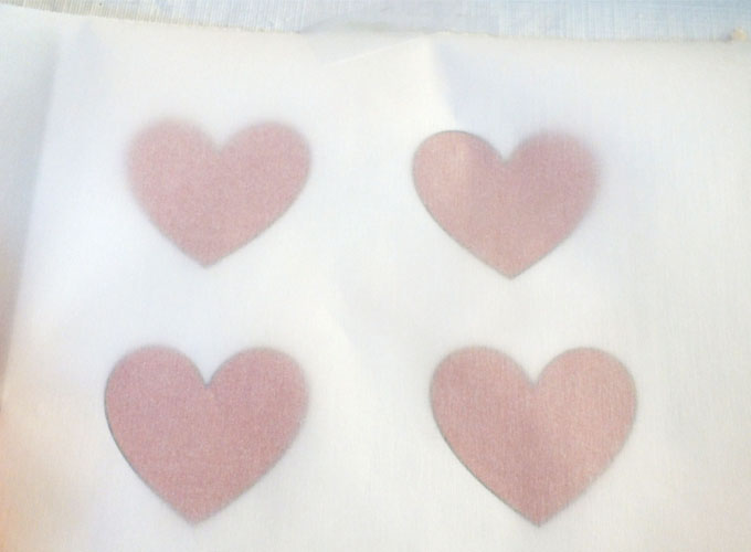 Heart Template for White Chocolate Hearts