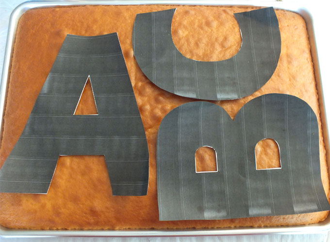Templates for cutting out ABC Cakes