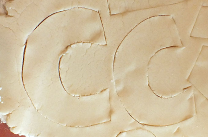 Use DIY Cookie Cutter Template to cut-out cookies