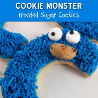 Cookie Monster Sugar Cookies