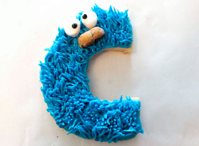 Finished Cookie Monster Sugar Cookie