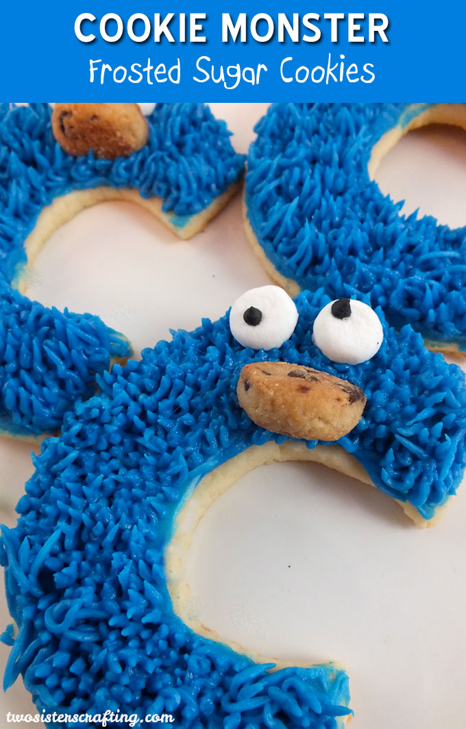 Cookie Monster Sugar Cookies for a Sesame Street Party or a Cookie ...