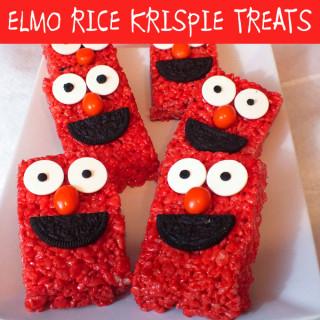 Elmo Rice Krispie Treats