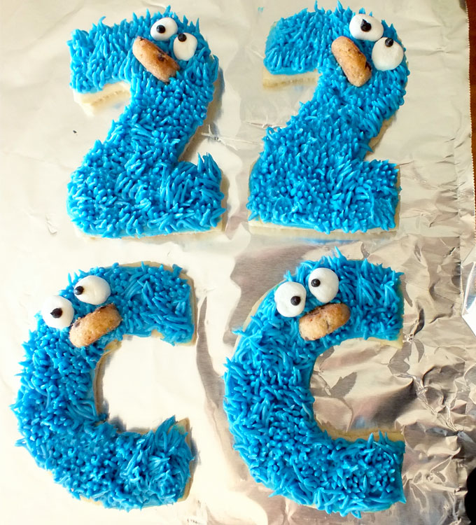 Cookie Monster Sesame Street Frosted Sugar Cookies