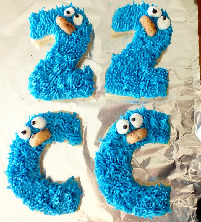 Cookie Monster Sesame Street Frosted Sugar Cookies