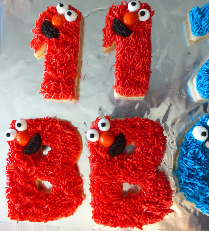 Elmo Frosted Sugar Cookies