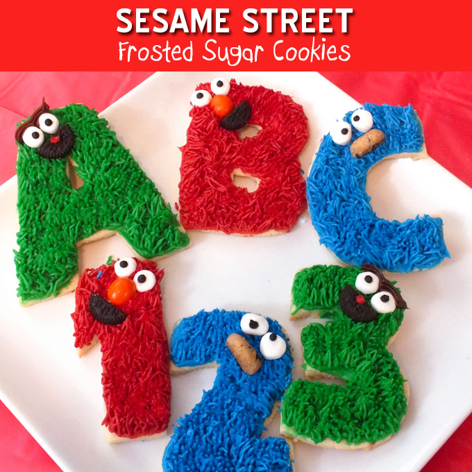 Sesame Street Frosted Sugar Cookies Two Sisters Crafting
