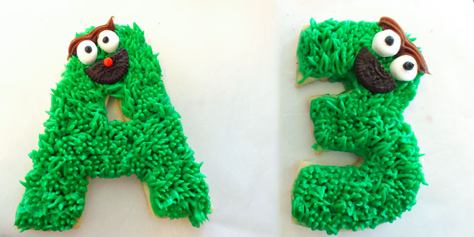 Oscar the Grouch Frosted Sugar Cookies