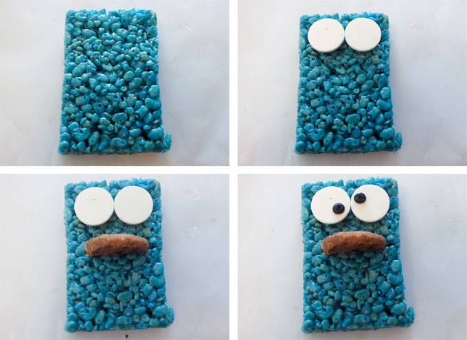 How to make a Cookie Monster Face
