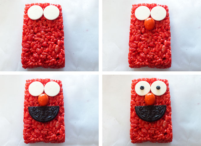 How to make Elmo Face in the Rice Krispie Treat