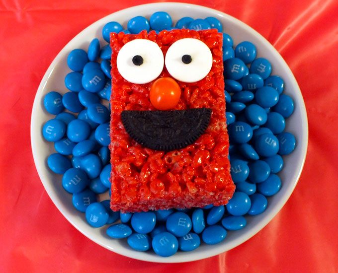 Sesame Street Rice Krispie Treats - Two Sisters Crafting