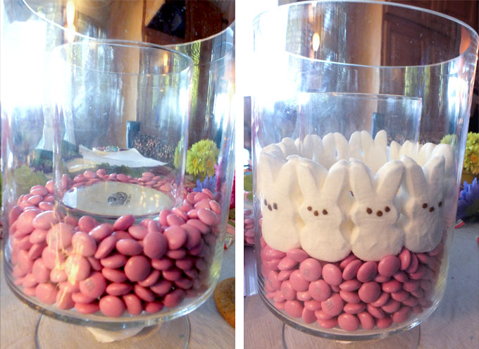 Adding Candy to the Glass Vase