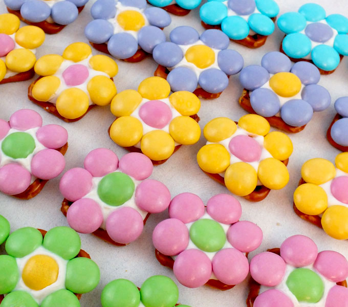 Our Spring Flower Pretzel Bites Are So Pretty And Easy To Make Sweet