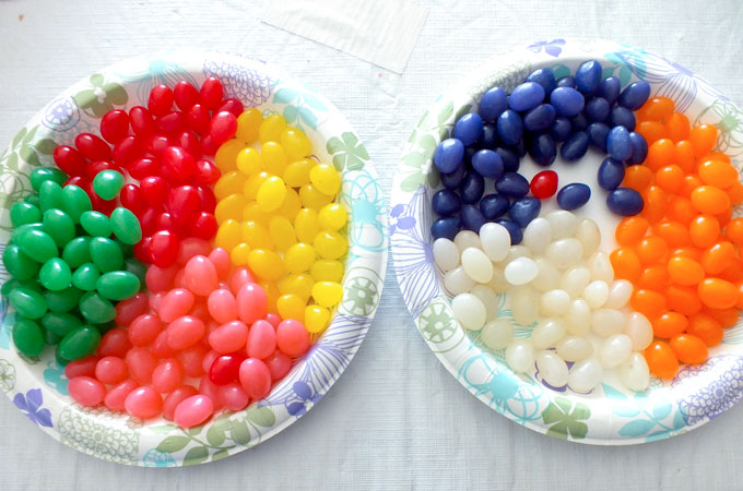 Jelly Beans separated by color