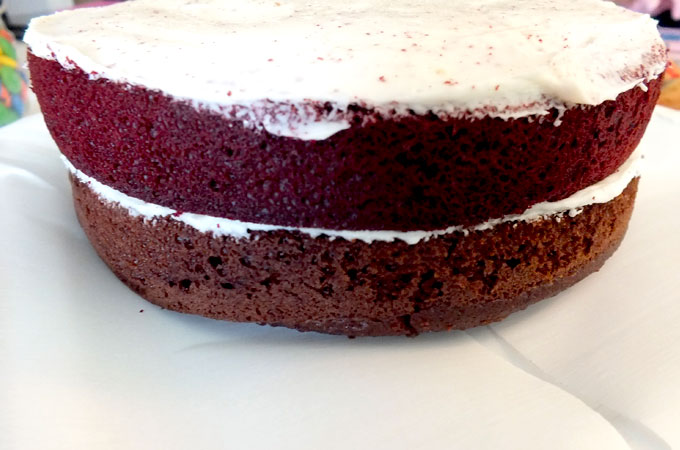 Red Velvet Chocolate Cake Layer