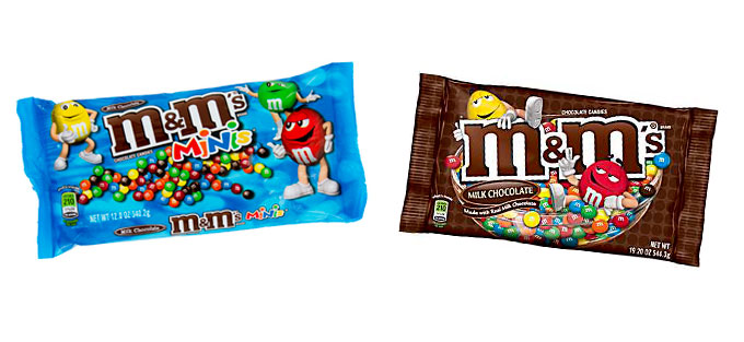 Mimi and Regular Sized M&M's